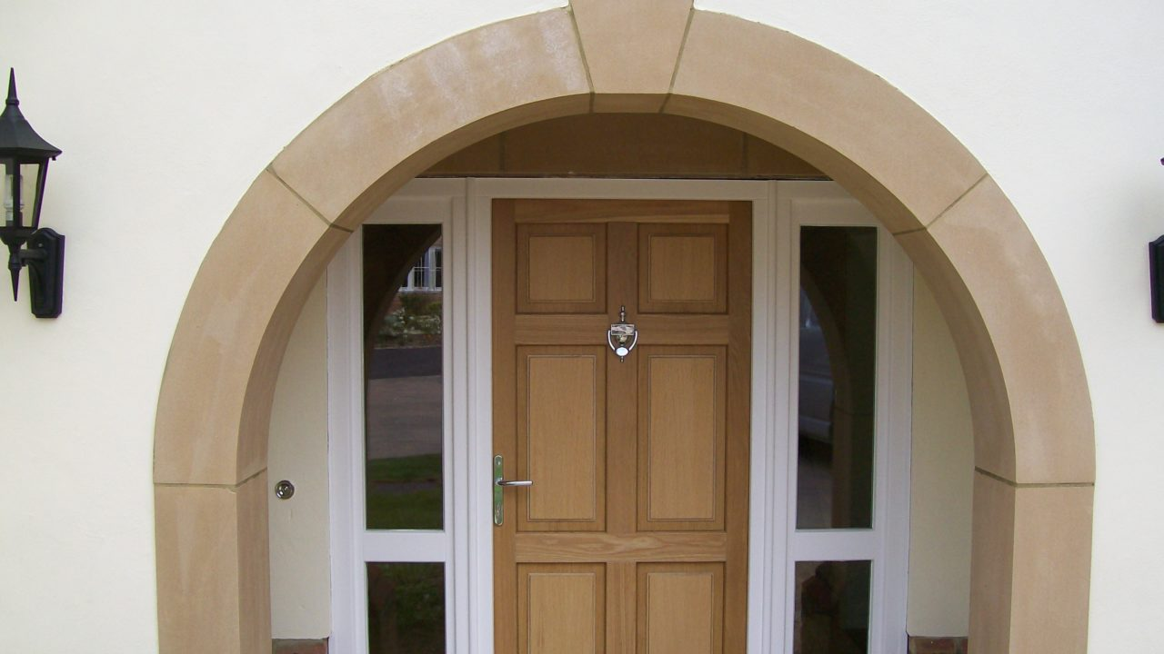 Stylish entrance doors