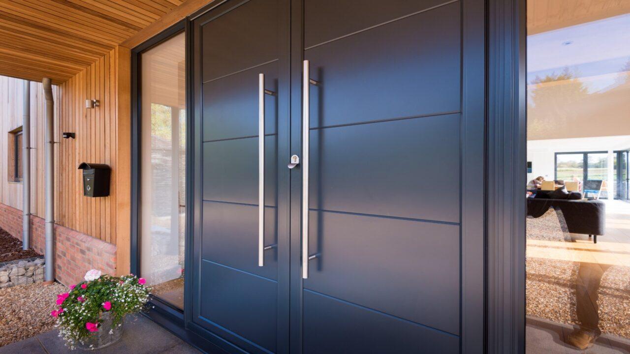 Modern aluminium doors